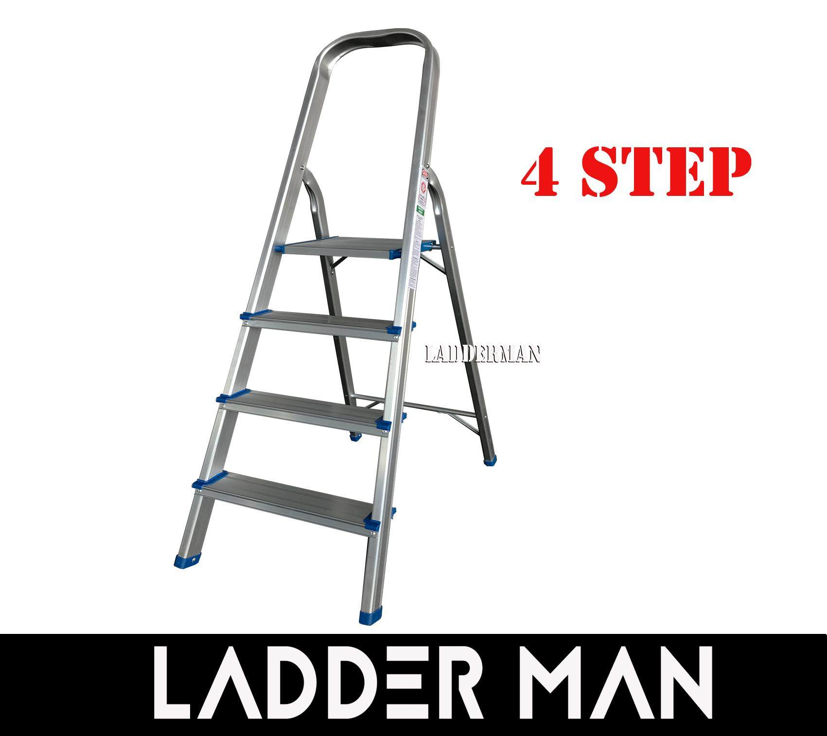 4 STEP FOLDABLE ALUMINIUM STEP STOOL LADDER SAL4