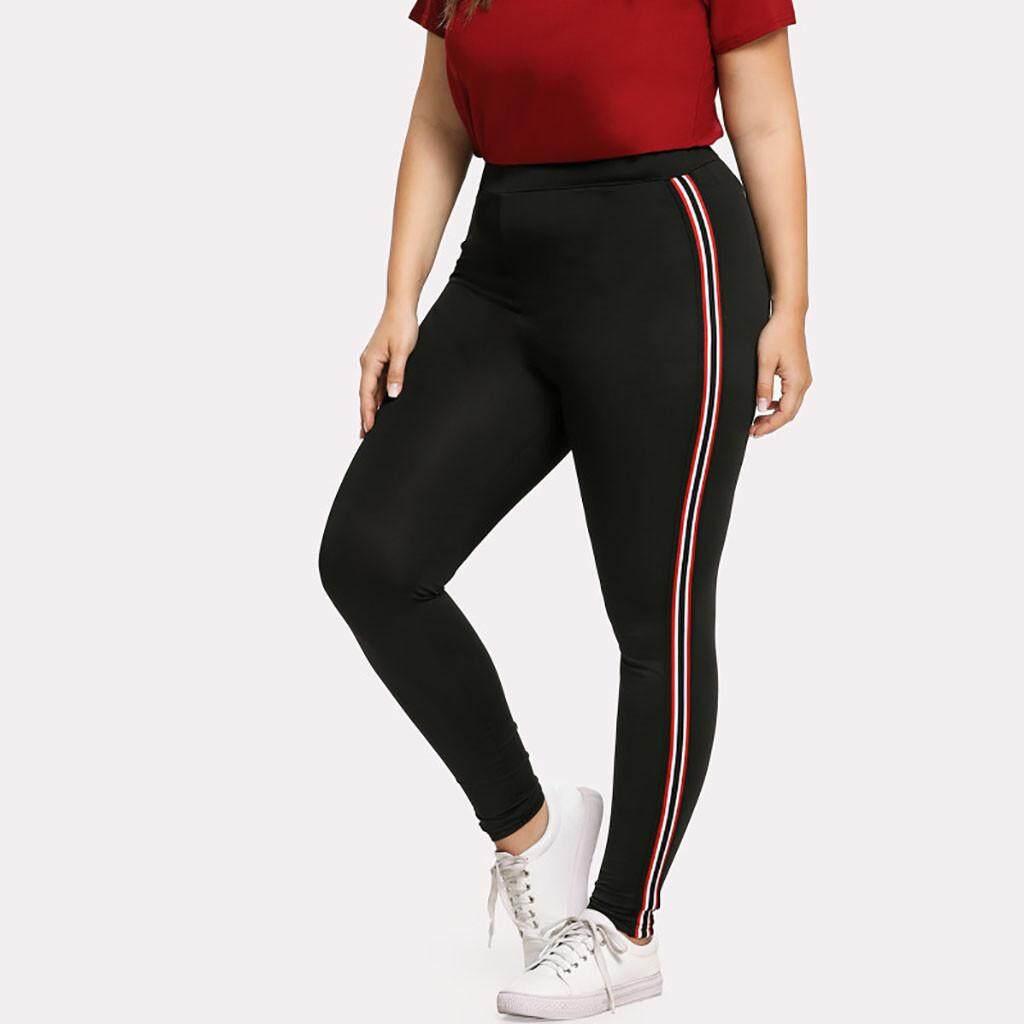 45d290f718ffb Qusaystore Women Plus Size Elastic Fitness Sports Leggings Yoga Athletic  Pants