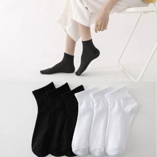 Tất Dài Đến Mắt Cá Bằng Cotton Thời Trang Cho Nữ Tất Thoáng Khí Cho Nam Phong Cách Hàn Quốc Tất Thể Thao Ngắn Màu Trắng Đen Mùa Hè thumbnail