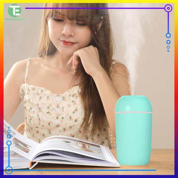 USB Silent Air Humidifier Gentle Night Light Aroma Diffuser Continuous/Intermittent Spray Can Singapore