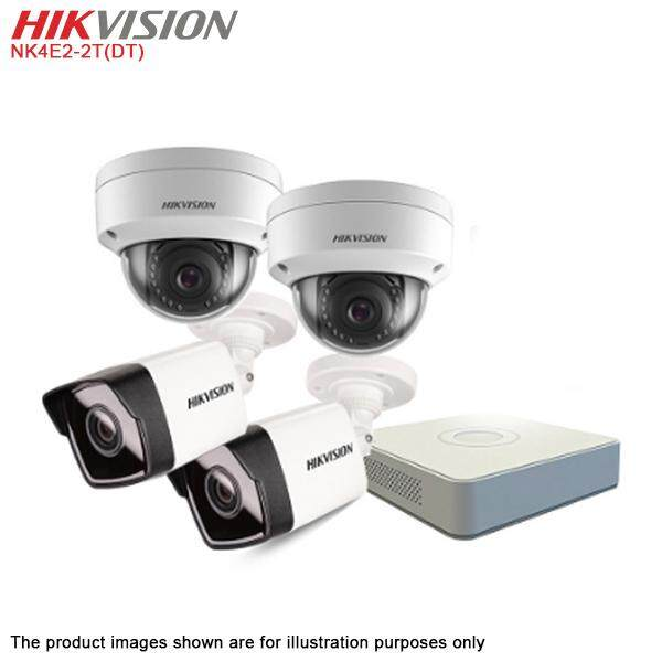 Hikvision Nk4e2-2t(dt) 4 Channel 4x 2mp Network Ip Camera Nvr Cctv Diy Hd Kit With 2tb Hdd By One Stop Solution.