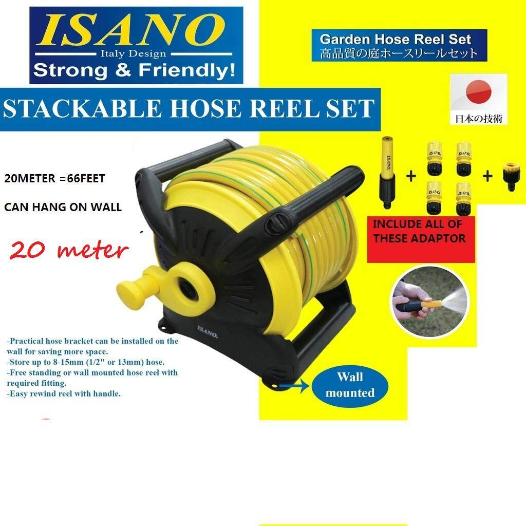 OFFER@@@ISANO STACKABLE HOSE REEL SET 20METER WITH WALL MOUNTING  ~GOOD PRODUCT!!