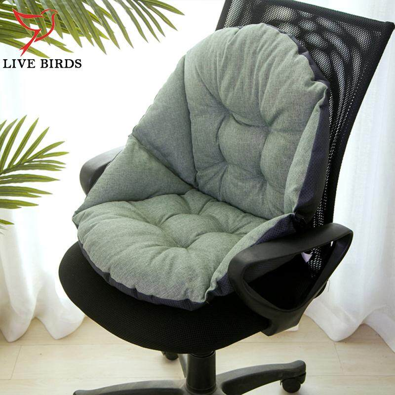 Soft Thicken Plush Shell Shape Seat Back Support Cushion Pillow for Office Home Chair Car Pad