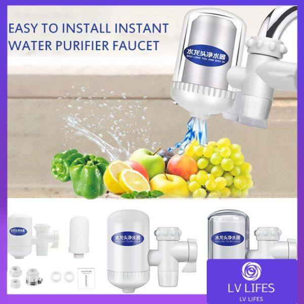 Household Kitchen DurableTap Water Purifier Faucet Water Purifier Home Faucet Filter High Efficiency Portable Water PurifierHome Water Filters with Filter Element Tube