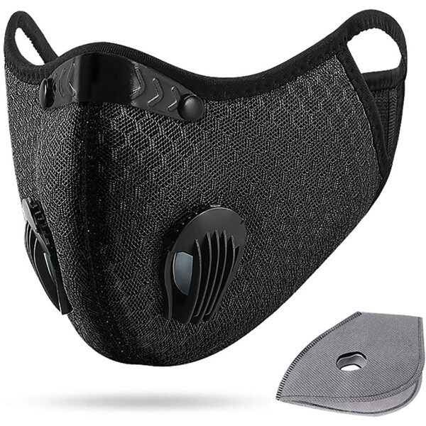 [Malaysia Ready Stock] Dust With 1 Filters Half Face Reusable Activated Carbon Dustproof Respirator face shield protector lowest price