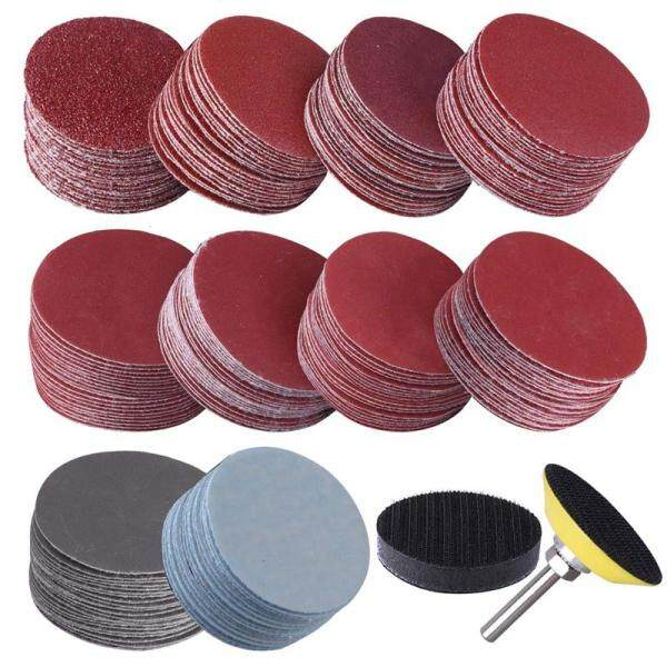 200Pcs 50mm 2 Inch Sander Disc Sanding Discs 80-3000 Grit Paper with 1Inch Abrasive Polish Pad Plate + 1/4 Inch Shank for Rotary Tool