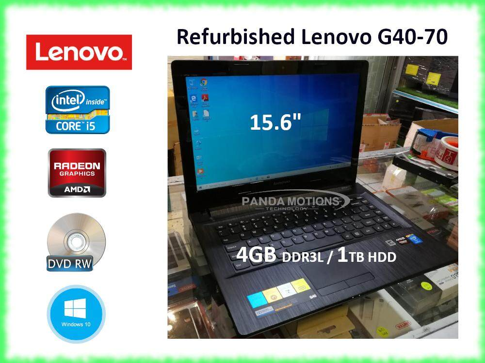 Refurbished - Lenovo G40-70 [i5-4200U/4GB/1TB/AMD Radeon/W10] Malaysia