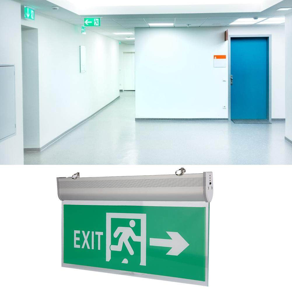 brsneffie 110-220V Acrylic LED Emergency Exit Sign Lamp Evacuation Indicator Light