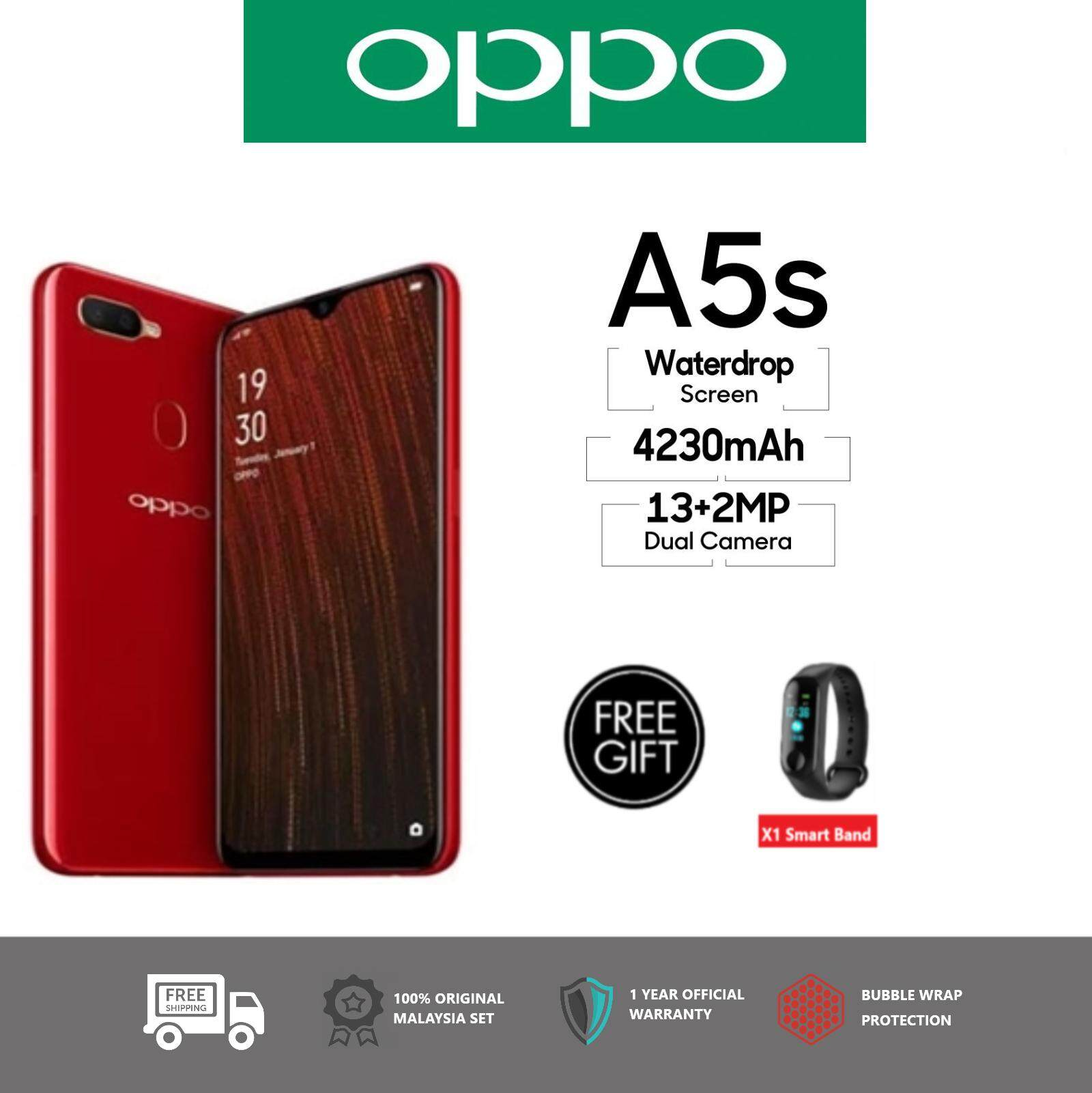 Oppo A5s [ 3GB Ram + 32GB Rom] - Original Malaysia Set - Free Exclusive Gift