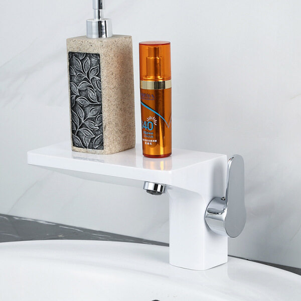Bathroom Surface Mounted Basin Faucet Hot and Cold Hidden Embedded Box Washbasin Faucet