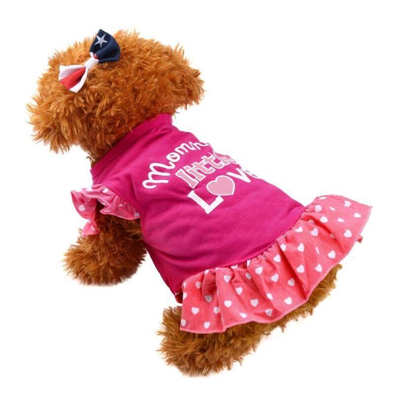 Otrô Miễn Phí Vận Chuyển Dễ Thương Mùa Hè Chó Con Chó Nhỏ Mèo Váy Cho Thú Cưng Trang Phục Quần Áo Fly Tay Áo Váy