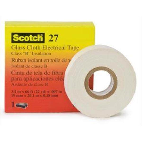3M Glass Cloth Electrical Tape 27 (19mm x 20.1m)