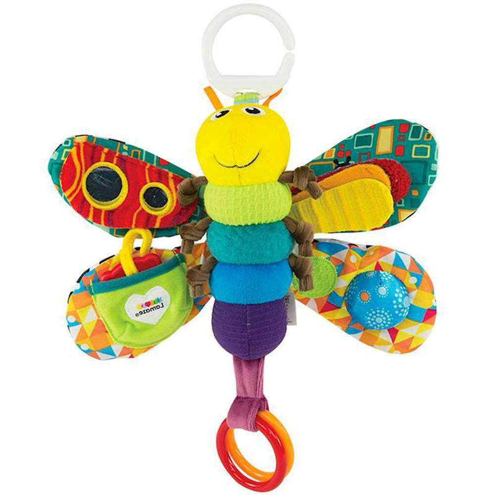 Bumblebaa Baby Plush Animal Stroller Bed Hanging Toys Stuffed Handbell Rattle With Teether Gift For Infants Style:butterfly By Bumblebaa.