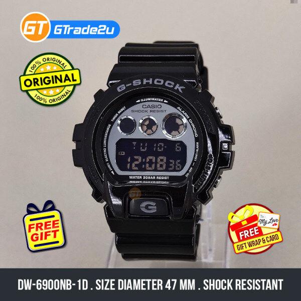 Casio G-Shock Men DW-6900NB-1D DW-6900NB-1 DW6900NB-1D Digital Bulat NB1 Watch Glossy Black Resin Band G Shock . watch for man . jam tangan lelaki . casio watch for men . jam g shock original gshock watch . jam tangan g shock watch [READY STOCK] Malaysia