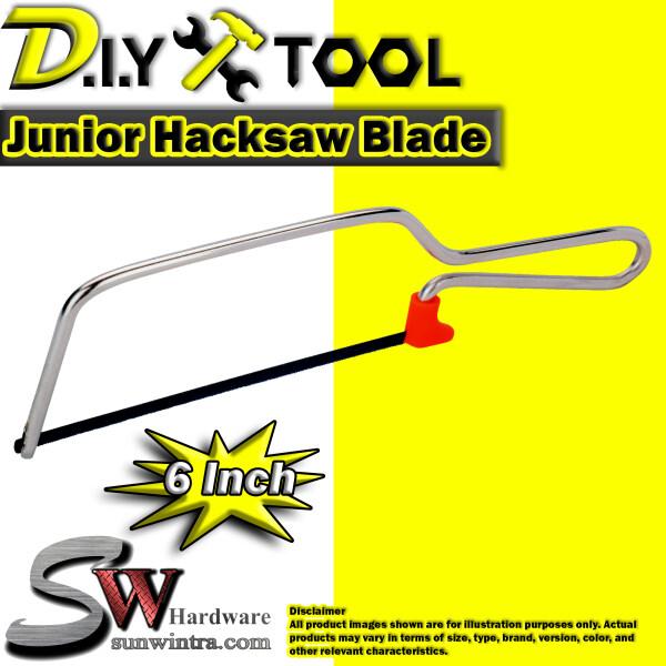 SW Hardware 6 Junior Hacksaw Blade Set ; Hand Saw ; Gergaji ; Frame Saw