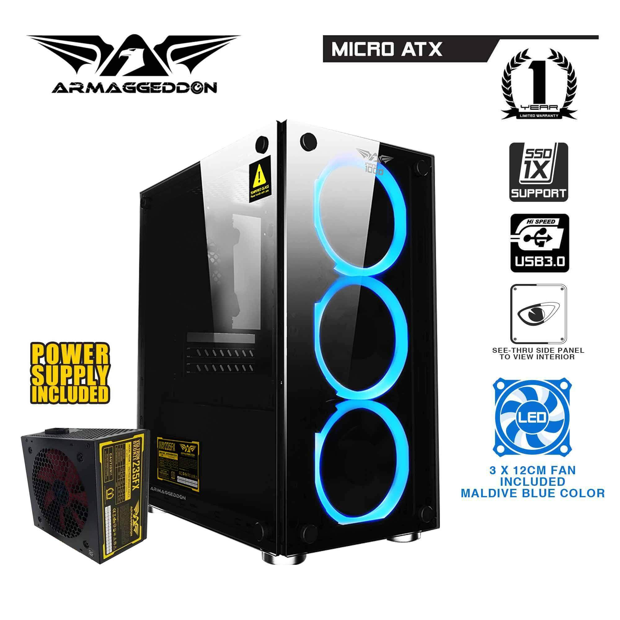 Armaggeddon Infineon 1000+ Micro ATX Gaming PC Case with Power Supply and Cooling Fan (x3) Malaysia