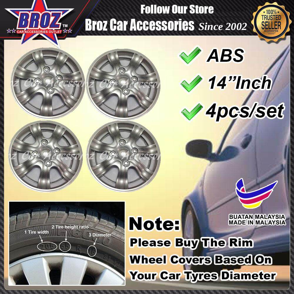 14 Inch Abs Wheel Cover Rim Center Hub Caps (made In Malaysia) Perodua Kancil By Broz Car Accessories.