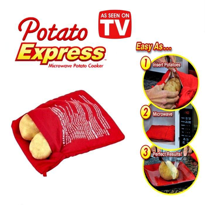 Microwave Potato Cooker Bag Perfect Potatoes Just in 4 Minutes