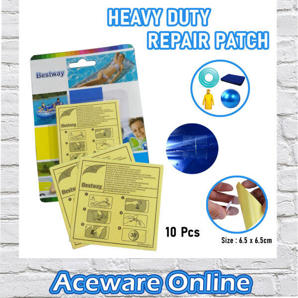 BESTWAY 62068 HEAVY DUTY REPAIR PATCH REPAIR KIT INFLATABLE PRODUCTS REPAIR PUNCTURES MULTIPURPOSE EASY TO USE