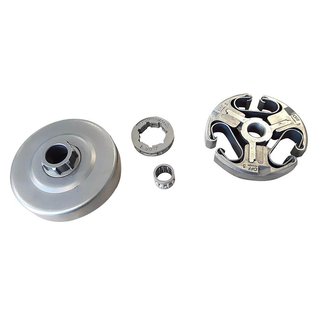 BolehDeals Clutch & Clutch Drum & Sprocket Rim 3/8-7 & Clutch Cage Bearing for HUSQVARNA Chainsaw 362 365 371 372 372XP NEW Replacements