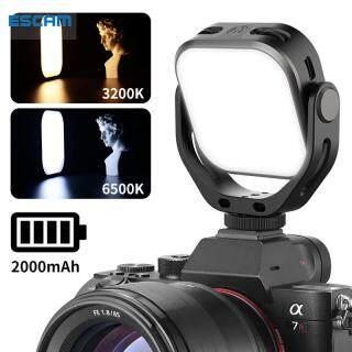 ESCAM VIJIM VL66 Đèn Vòng Xoay Hai Màu 360 Độ Đèn LED Video, Mini Có Thể Sạc Lại Thay Đổi Độ Sáng Máy Ảnh Ánh Sáng thumbnail