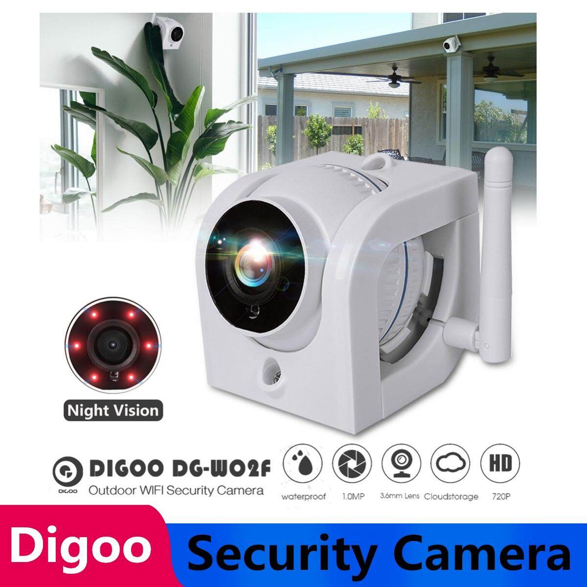 【free Shipping + Super Deal + Limited Offer】digoo Dg-W02f Cloud Storage 3.6mm Lens 720p Waterproof Outdoor Wifi Security Ip Camera Motion Detection Alarm Support Amazon Web Service Onvif Monitor - White By Freebang.