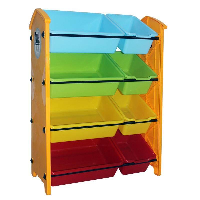RuYiYu - 61 X 29 X 84cm, Kids Toy Organizer and Storage Bins, 8-Bins in Fun Colors, Toy Storage Rack
