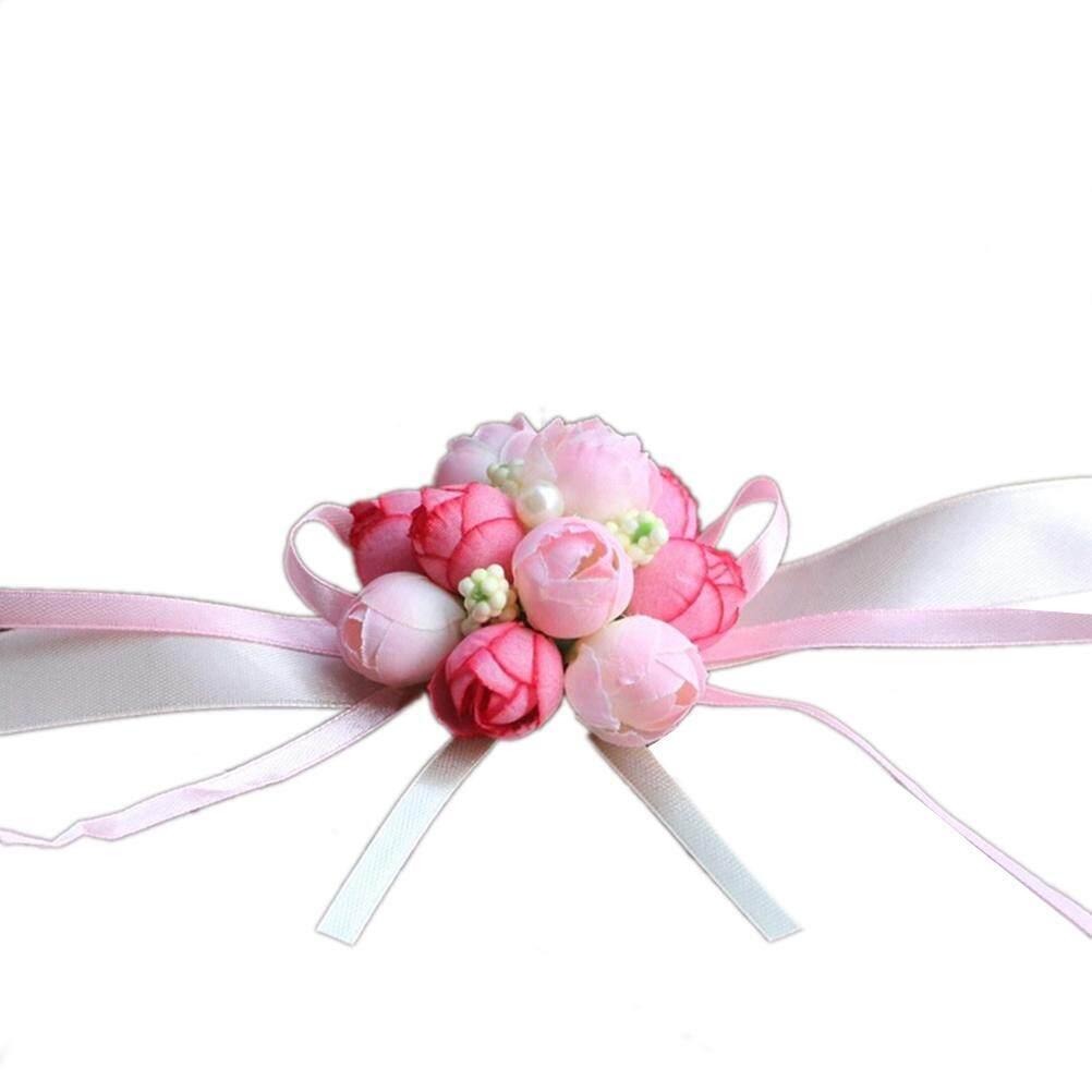 runtian Beautiful Wrist Corsage Bracelet Bridesmaid Sisters Hand Flowers Wedding Party S
