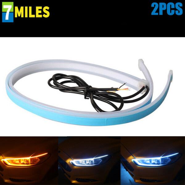2 Dải Đèn LED Chạy Ban Ngày Cho Xe Hơi Dải Đèn LED Xi Nhan DRL Linh Hoạt
