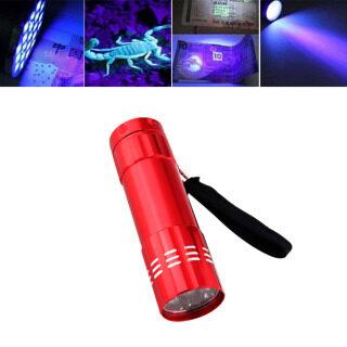 Đèn Pin 9 LED Tia Cực Tím 395nm Đèn Pin UV Phát Hiện Tiền Cầm Tay thumbnail