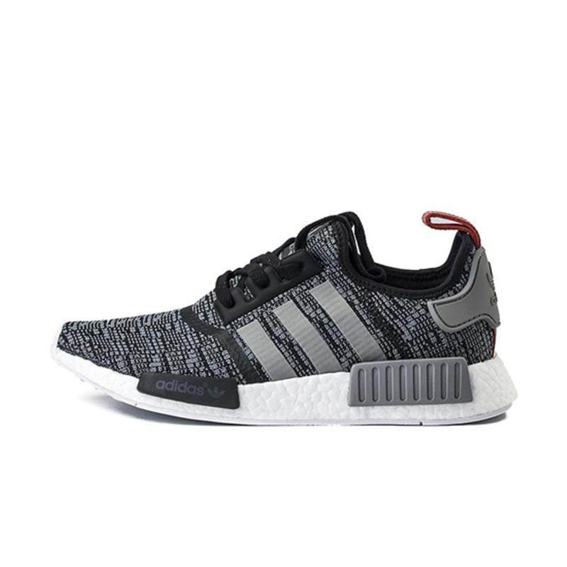ADIDAS clover NMD R1 black- gray men and women sports running shoes casual shoes