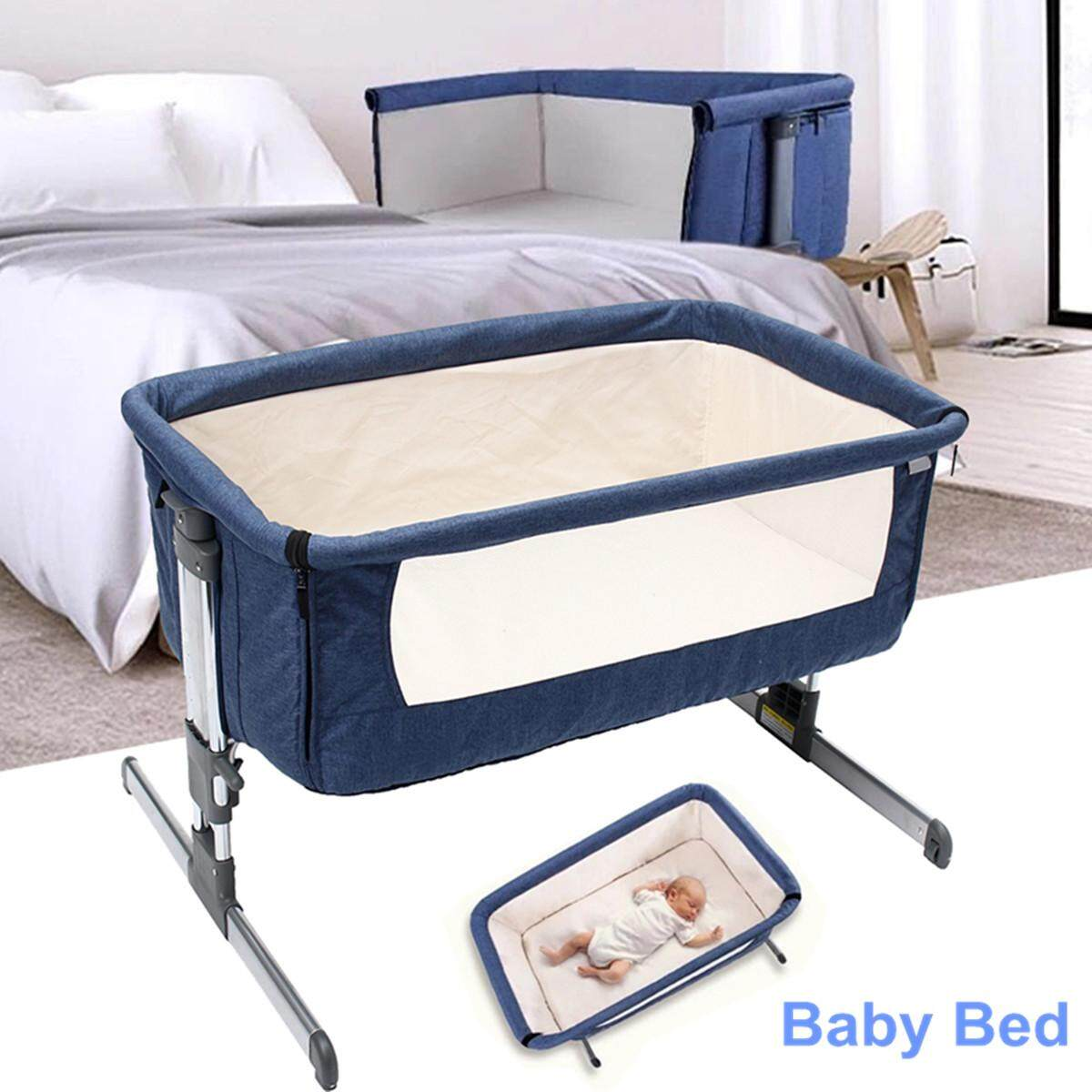 Cosy Time Beside Time Beside Co Sleeper Blue Bassinet Cot Crib Baby Bed By Autoleader.