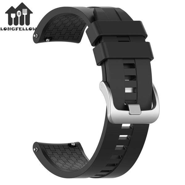 【Longfellow】22mm Silicone Wrist Strap Watch Band with Steel Buckle for Amazfit GTR 47mm Malaysia