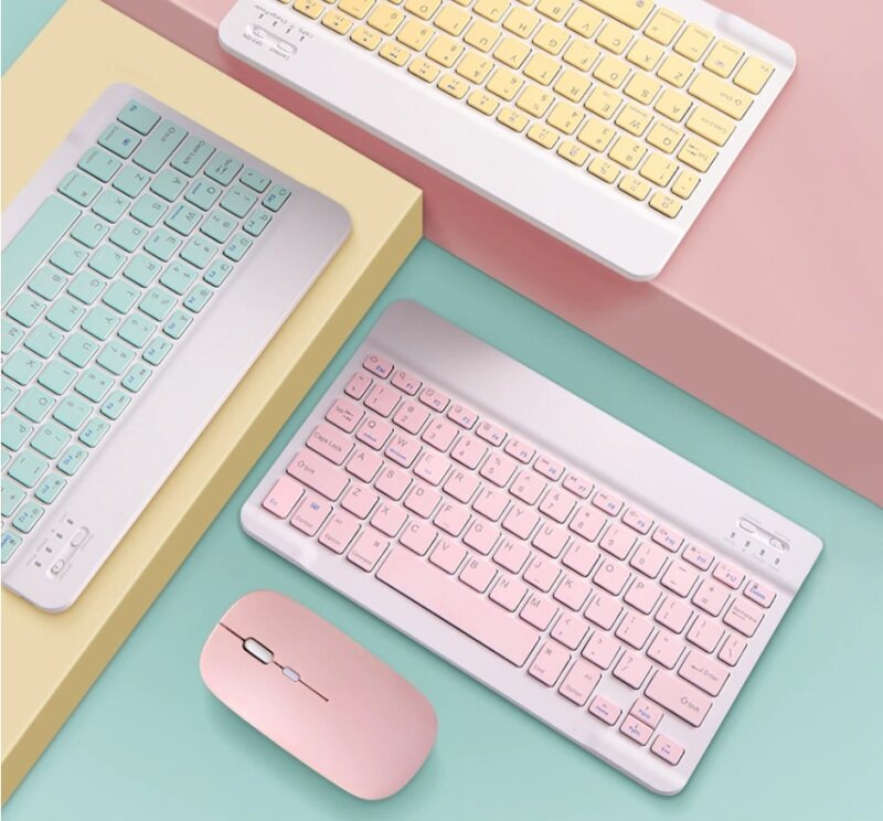 wireless bluetooth keyboard mouse touchpad for handphone smartphone tablet tab PC laptop multi-colour rechargable battery Malaysia