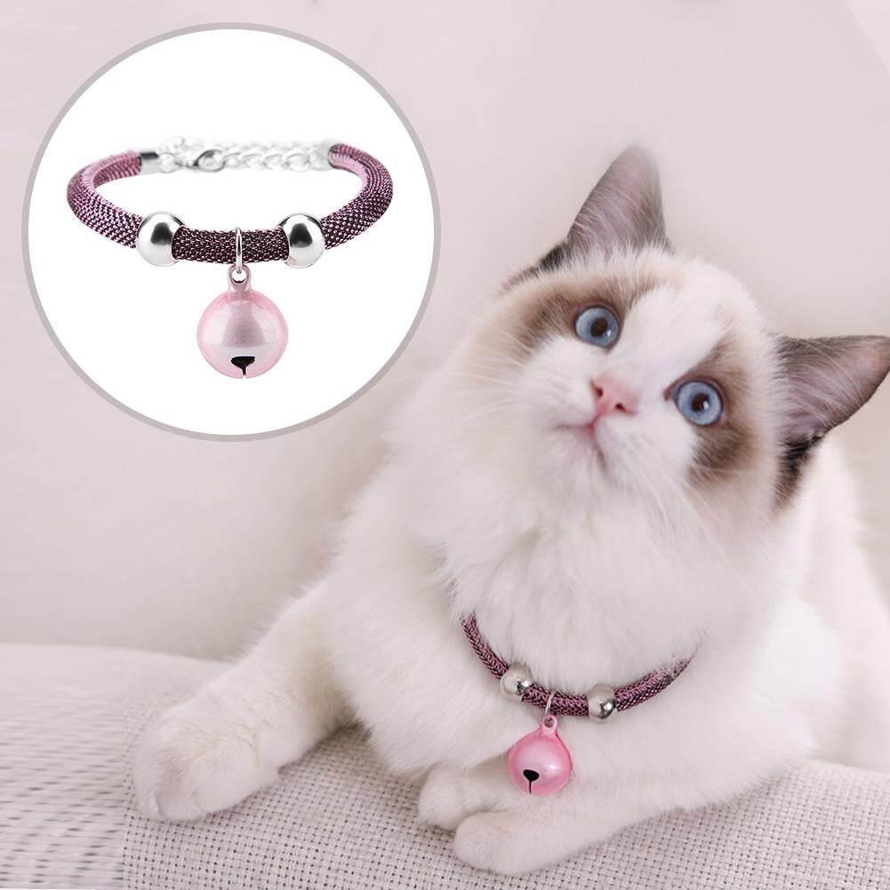Maelovi【discount ส่วนลดที่ใหญ่ที่สุด + ราคาต่ำสุด】สไตล์ญี่ปุ่นสร้อยคอสัตว์เลี้ยงไนลอนอุปกรณ์เสริม Kitten Cat ปลอกคอกระดิ่ง W/โซ่ขยาย By Maelovi.