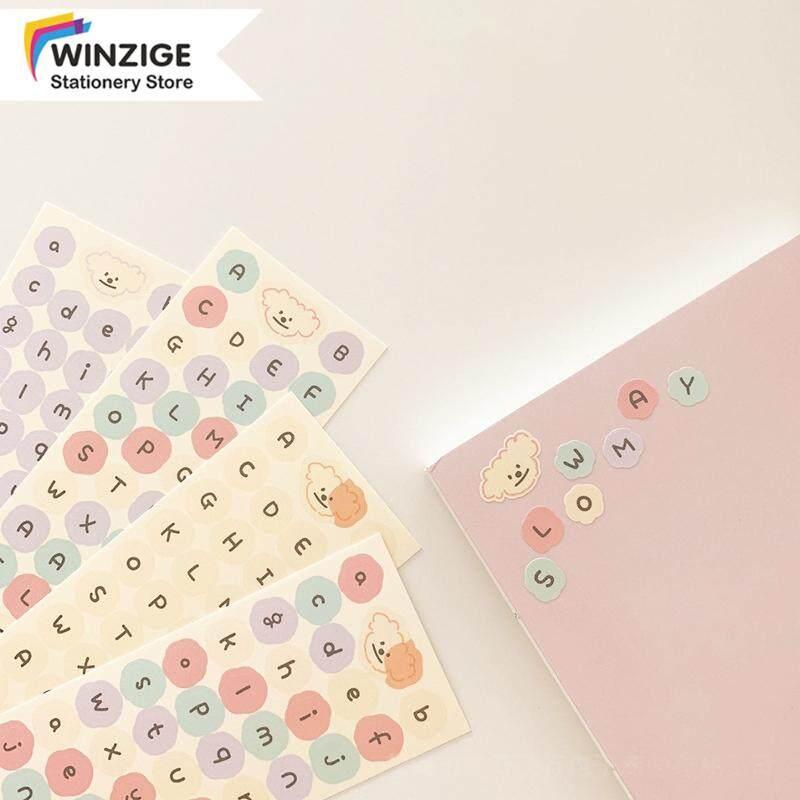 Winzige Miếng dán in bảng chữ cái dùng trang trí sổ tay