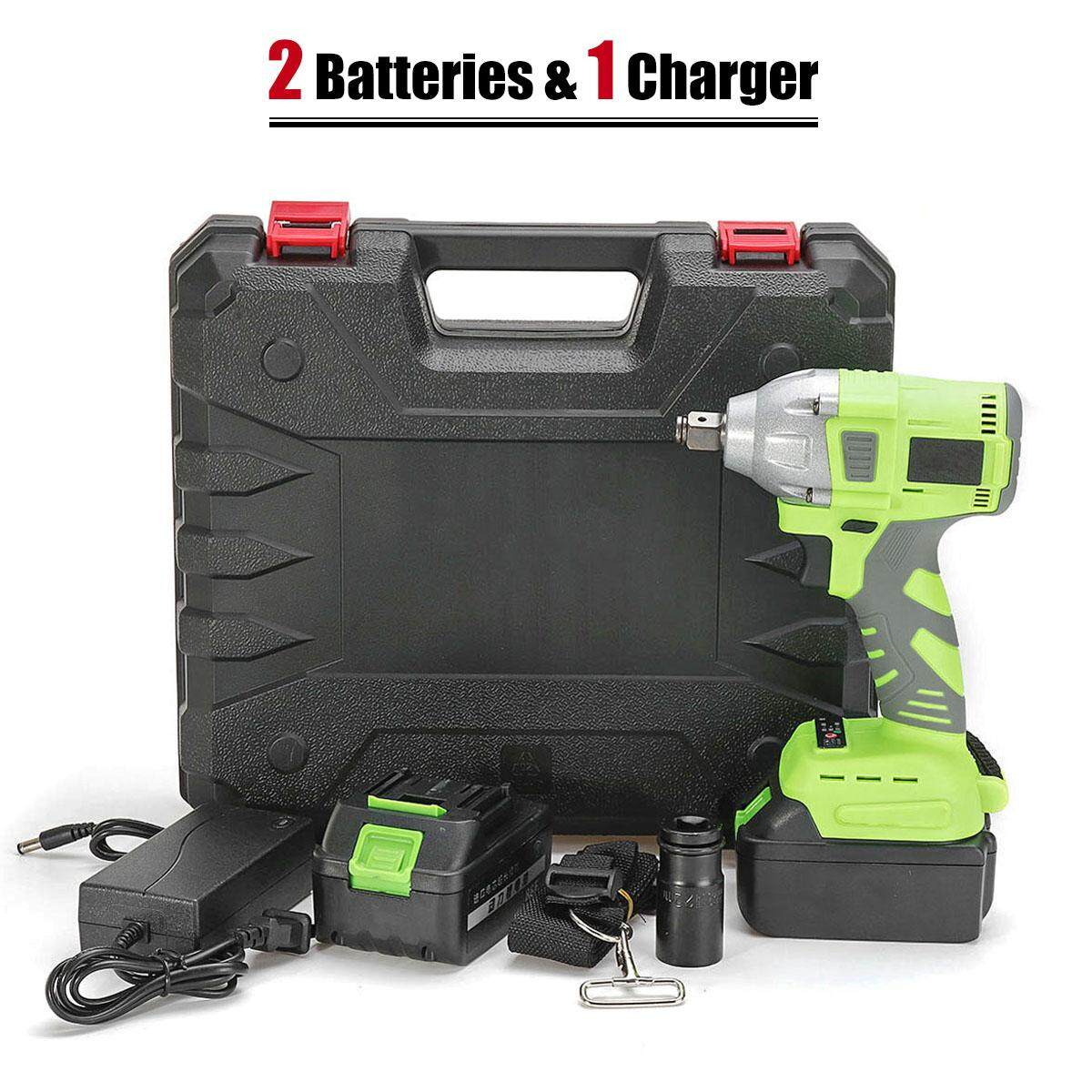 Wireless Electric Impact Wrench 320Nm Nutrunner 88F 20000mAh Li-ion Battery