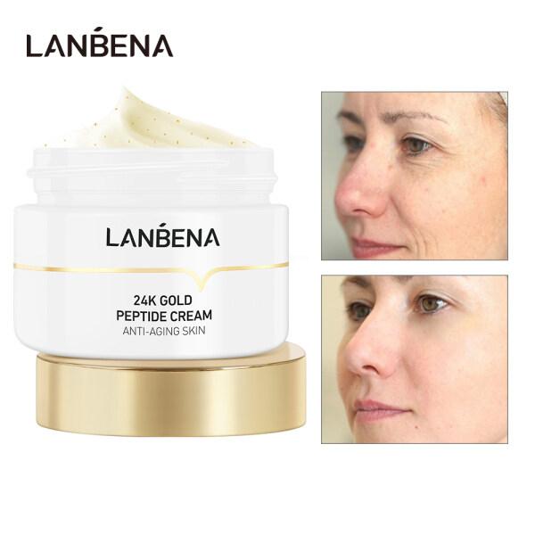 Kem dưỡng da LANBENA tinh chất vàng 24K giảm nếp nhăn chống lão hoá tăng độ đàn hồi cho da - INTL giá rẻ