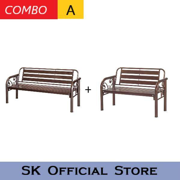 [combo A] Outdoor Furniture Bench Chair Set /garden Set/metal Chair Set/table Set/garden Furniture/garden Seating Table Chair/long Bench By Sk_furniturestore.