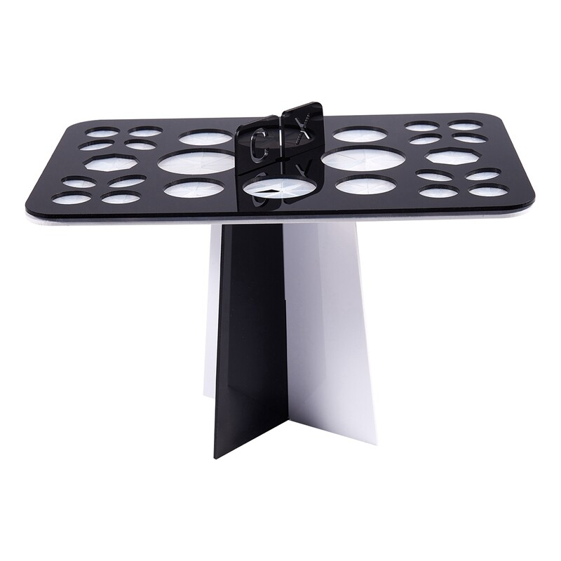 Acrylic Makeup brush drying rack dry brush holder (Black + White) tốt nhất