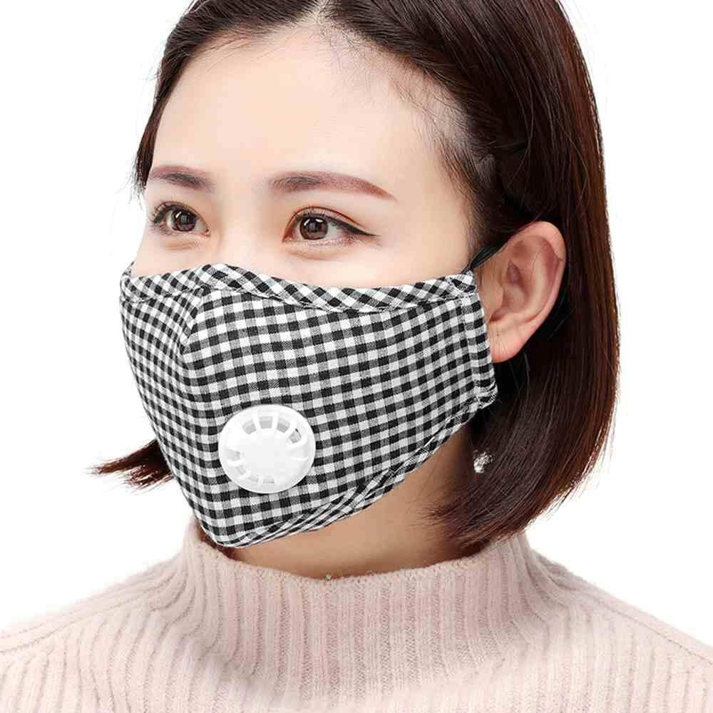 Chux PM2.5 Reusable Face Masks Dustproof Mouth-muffle Cycling Running Breathable Valve Anti Haze Respirator Healthy Protective Cover