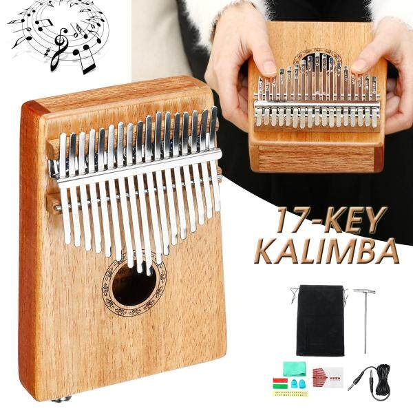 Muspor 17 Key EQ Kalimba Ngón Tay Cái Đàn Piano Bàn Phím Thu Điện Acacia Instrumen