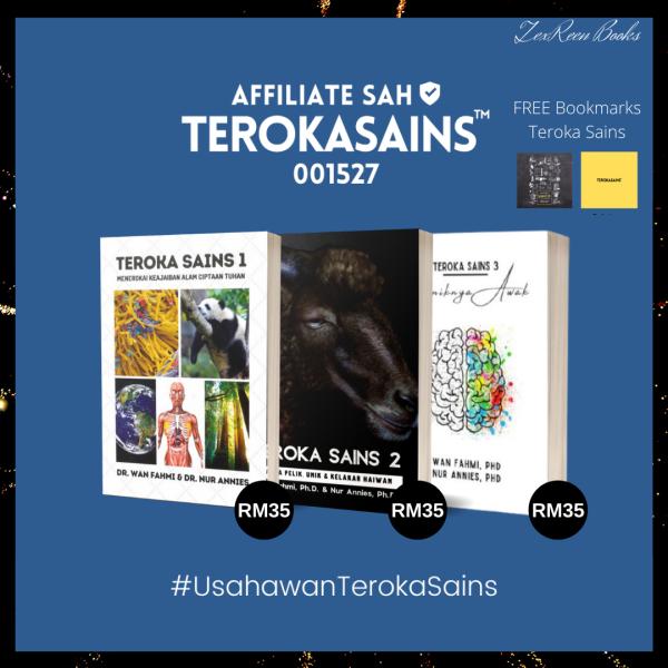 Kombo Teroka Sains 1, 2 & 3 + FREE GIFT (1pc Bookmark Teroka Sains + 2pcs Special Gift) Malaysia