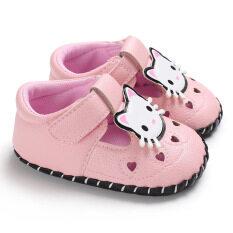 Giày Em Bé Sơ Sinh Trẻ Mới Tập Đi Đế Mềm Trăng Tròn 0-18 Tháng Giày Công Chúa Bé Gái Dễ Thương Một Tuổi