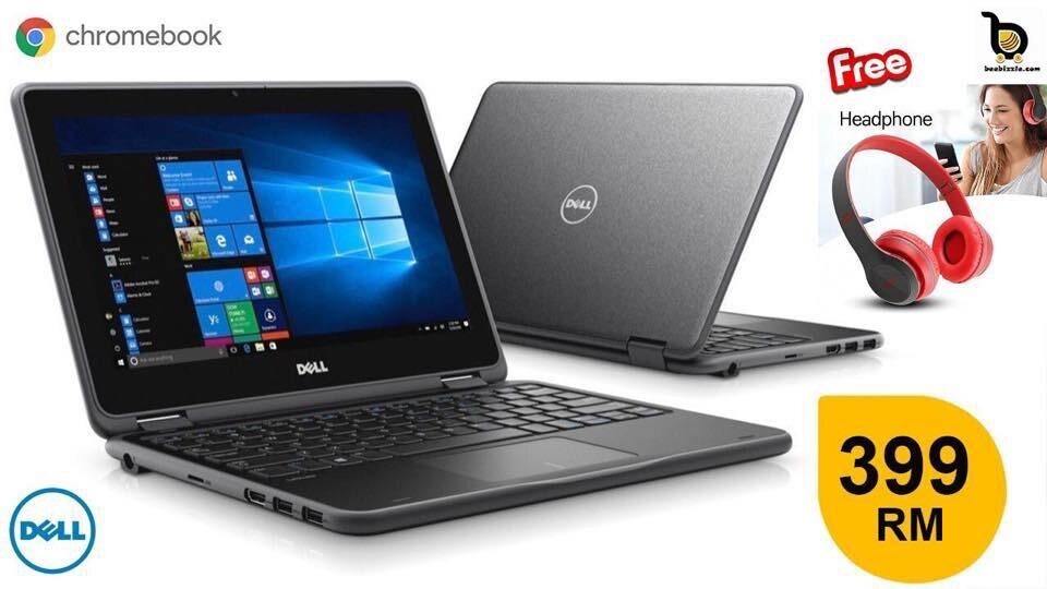 Dell Chromebook 11, Intel Celeron Processor, 4GB RAM, 16GB SSD, 12 Inch HD, HDMI Port, Web Camera Malaysia