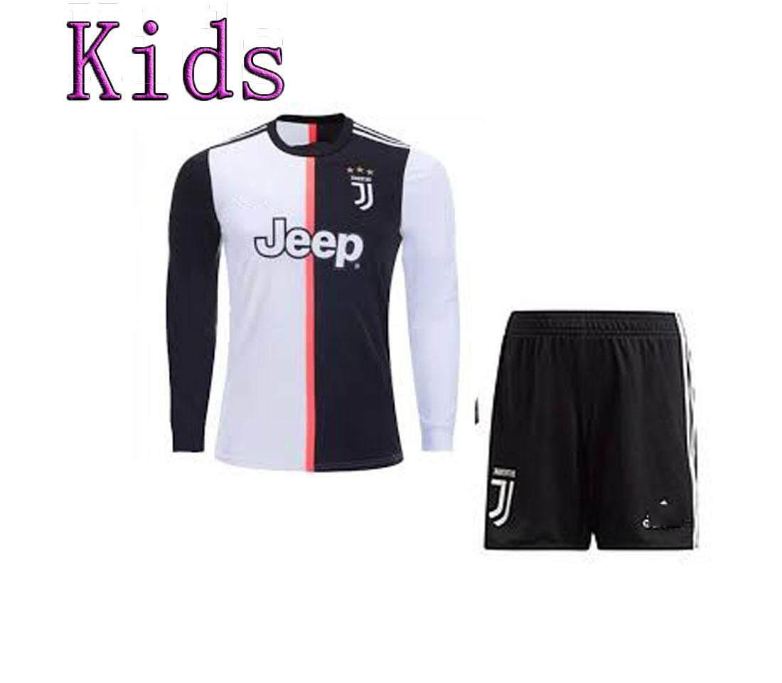 online store fe96c a6208 19/20 Kids Juventus Ronaldo DYBALA Home Long Sleeve Shirt with Short  Children