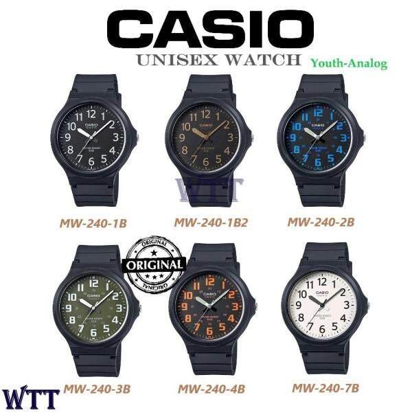 CASIO ORIGINAL MW-240 SERIES ANALOG UNISEX MEN WATCH (WATCH FOR MAN / JAM TANGAN LELAKI / MAN WATCH / WATCH FOR MEN / CASIO WATCH FOR MEN / CASIO WATCH) Malaysia