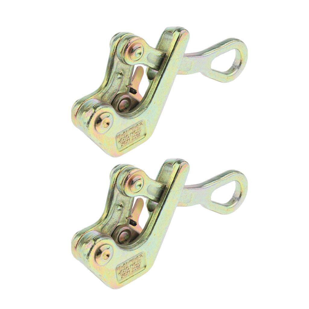 Blesiya 2 Pieces Insulated Wire Grip Clamp Wire Pulling Tightening Tool 1 Tons Load
