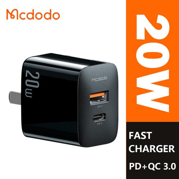 MCDODO 20W PD Type C + Sạc Nhanh 3.0 Dual Port, Nhanh Chóng Sạc, Dành Cho IPhone 8/X/11/12