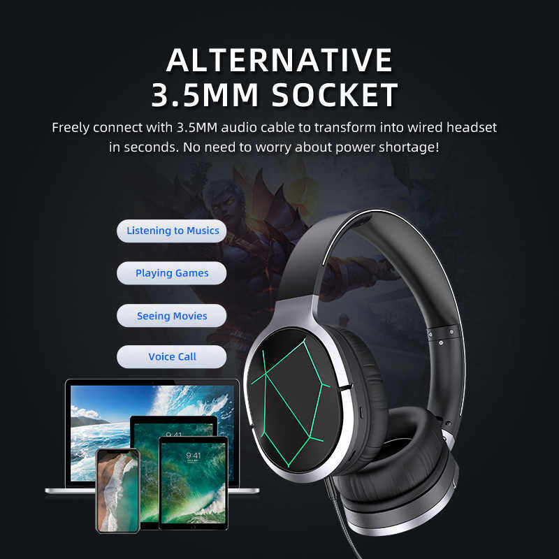 100% Original Awei Wireless Bluetooth Led Light Gaming Headphones Heavy  Bass With MIcrophone Headset For Gamer High Quality Headphone A799BL |  Lazada